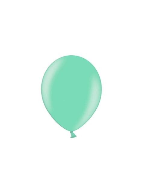 100 ballonnen in licht blauw , 25 cm - viering
