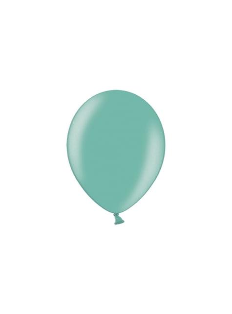 100 balónků v mátově zelené barvě, 29 cm