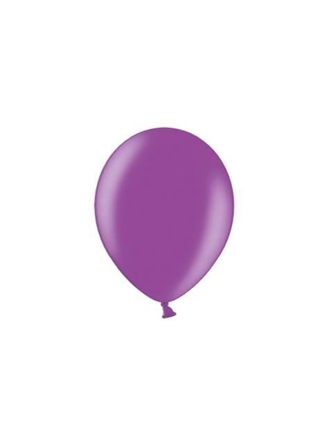 100 globos color morado (29 cm)