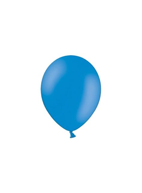 100 globos color azul oscuro (29 cm)