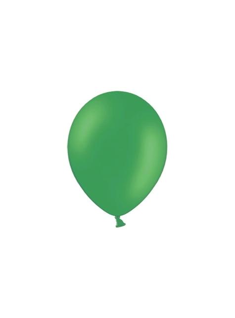 100 globos color verde esmeralda (29 cm)