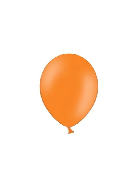 100 balónků v tmavěoranžové barvě, 29 cm
