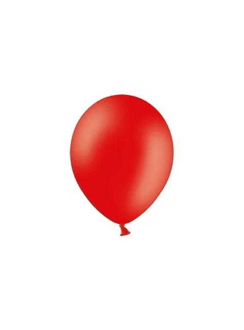 100 globos color rojo intenso (29 cm)