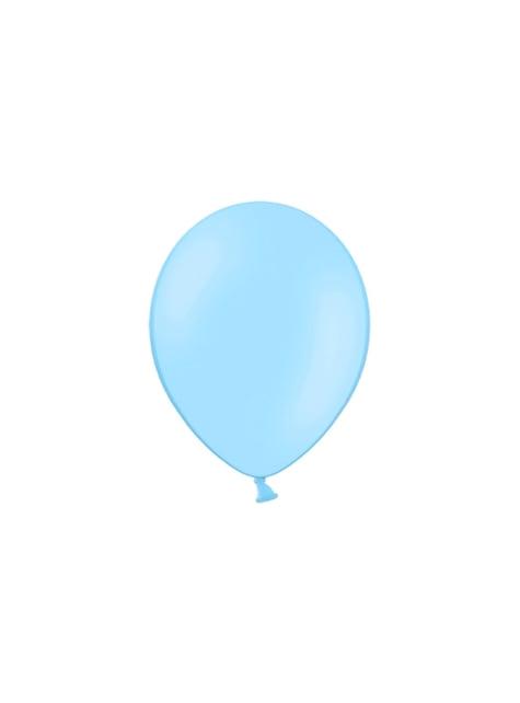 100 ballonnen in licht hemelsblauw, 29 cm