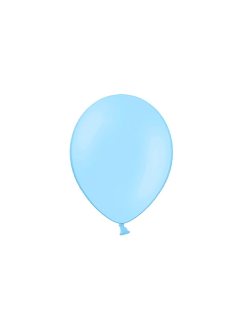 100 balónků ve světlé nebesky modré barvě, 29 cm
