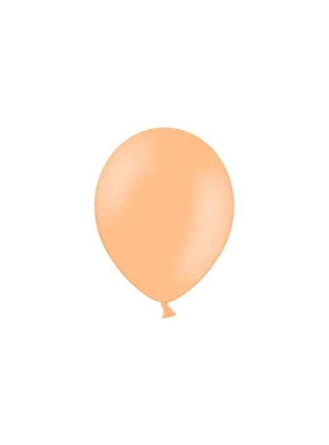100 balónků v broskvové barvě, 29 cm