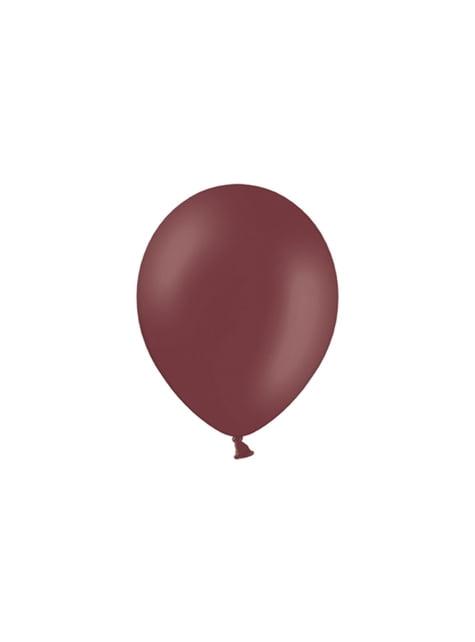 100 balónků ve vínově červené barvě, 29 cm
