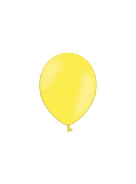 100 ballonnen in helder geel, 29 cm