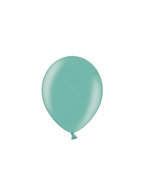 100 ballons 29 cm couleur vert menthe intense