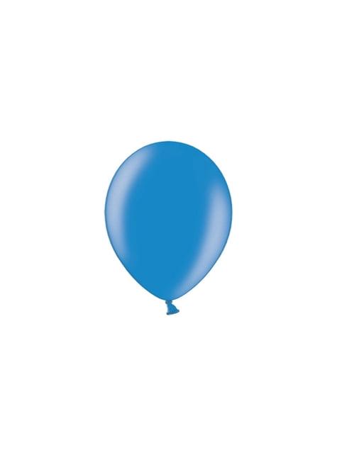 100 ballonnen in blauw, 23 cm