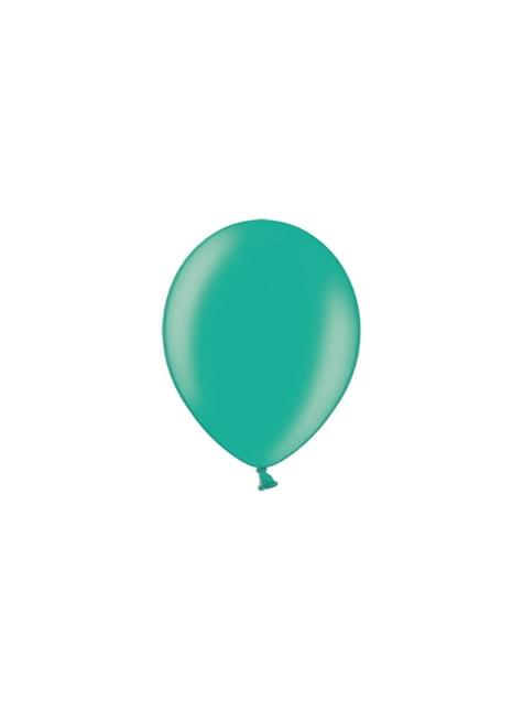 100 globos color verde (23 cm)