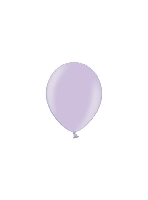 100 balónků v šeříkové barvě, 23 cm