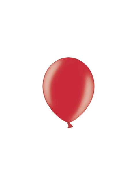 100 ballons 23 cm couleur rouge