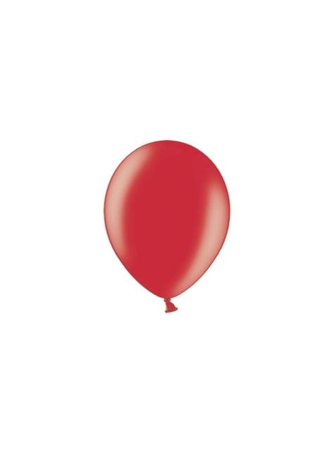 100 globos color rojo (23 cm)