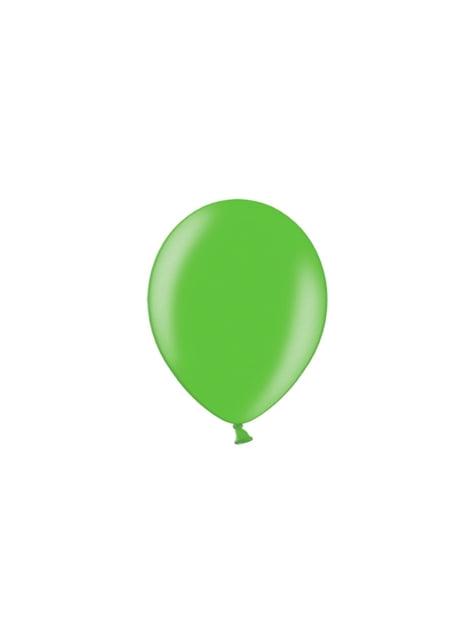 100 ballonnen in lichtgroen, 23 cm