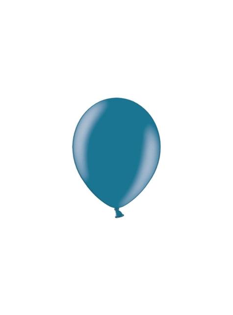 100 balónků v tmavomodré barvě, 23 cm