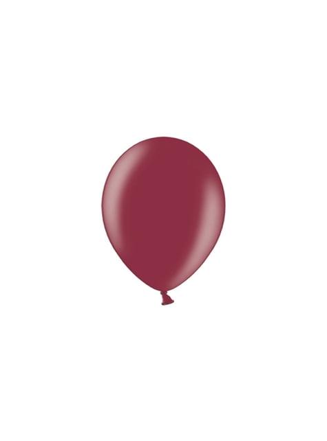 100 ballons 23 cm couleur grenat foncé