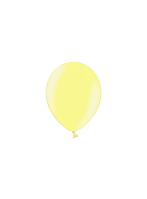 100 ballonnen in geel, 23 cm