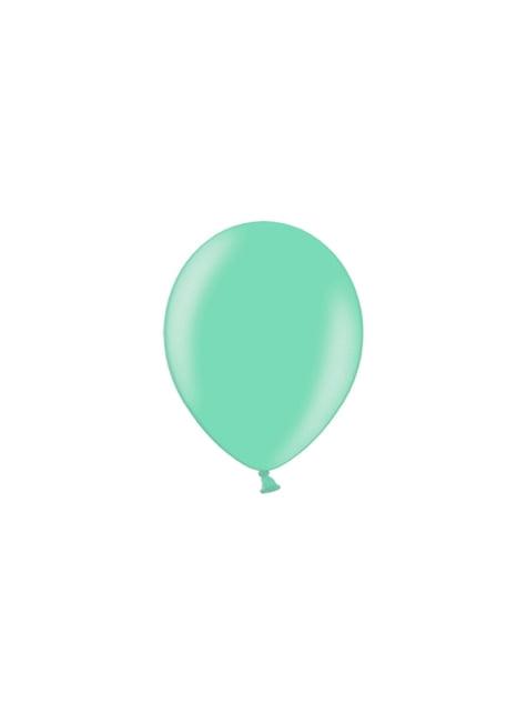 100 ballonnen in blauw-groen, 23 cm