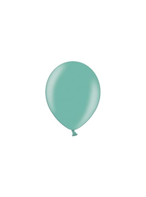 100 balónků v mátově zelené barvě, 23 cm