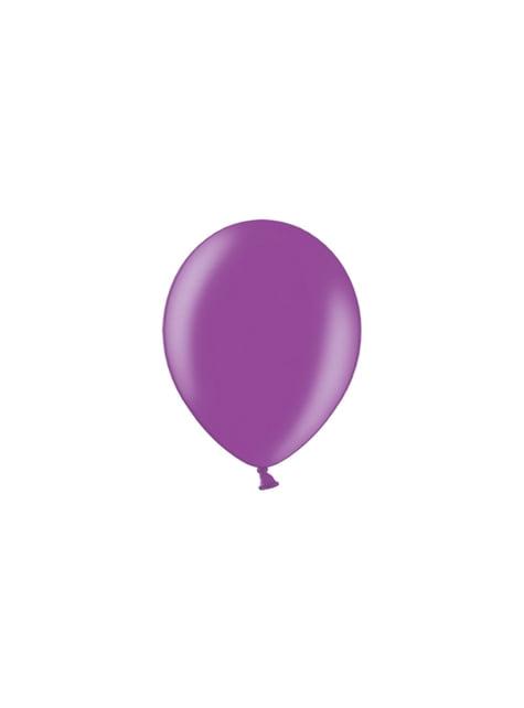 100 ballonnen in paars, 23 cm