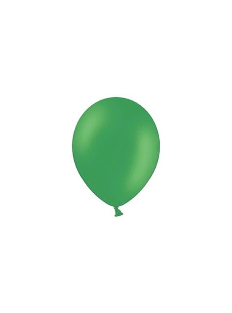 100 globos color verde esmeralda (23 cm)