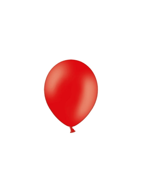 100 globos color rojo intenso (23 cm)