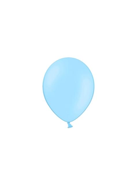 100 ballonnen in licht hemelsblauw, 23 cm