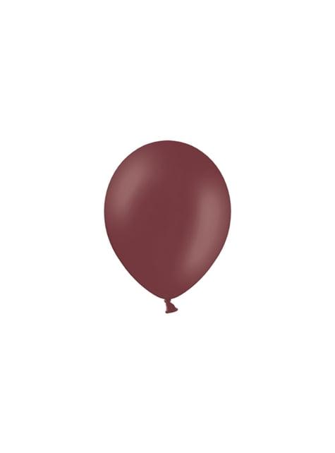 100 balónků ve vínově červené barvě, 23 cm