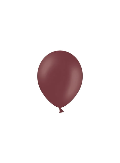 100 globos color granate (23 cm)