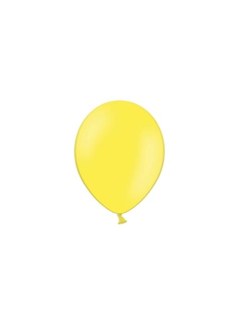 100 ballons 23 cm couleur jaune