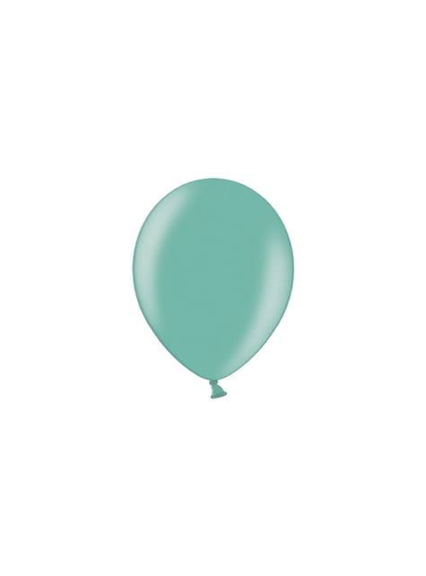 100 balónků v mátové barvě, 23 cm