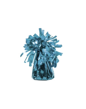 Błękitny obciążnik do balonów