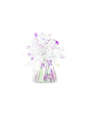 Peso para globos de color iridiscente