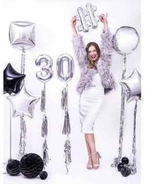 Srebrny obciążnik do balonów