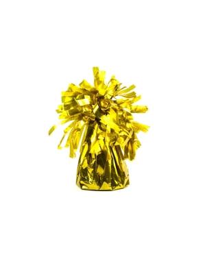 Peso para globos de color dorado