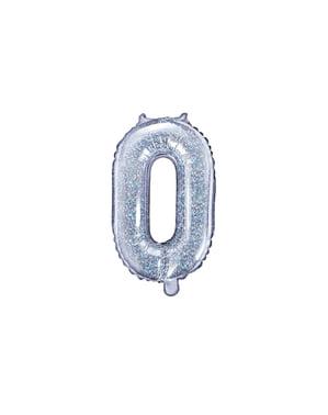 Srebrny brokatowy balon foliowy