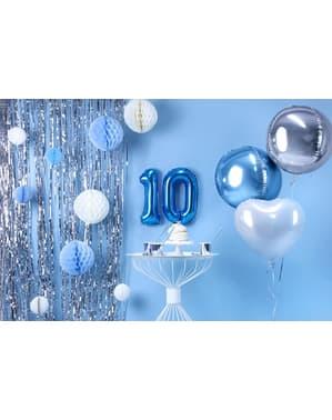 Niebieski balon foliowy