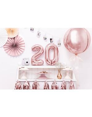 «0» Фольга куля з рожевого золота (35 см)