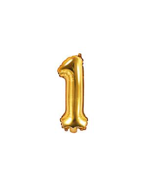 «1» Фольга куля в золоті (35 см)