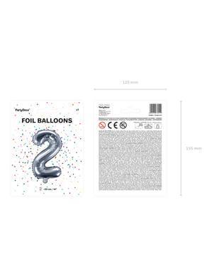 «2» Фольга куля в сріблі
