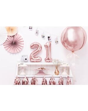 «2» Фольга куля з рожевого золота (35 см)