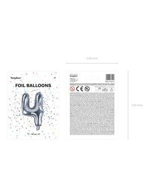 Srebrny balon foliowy