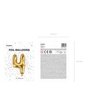 Złoty balon foliowy