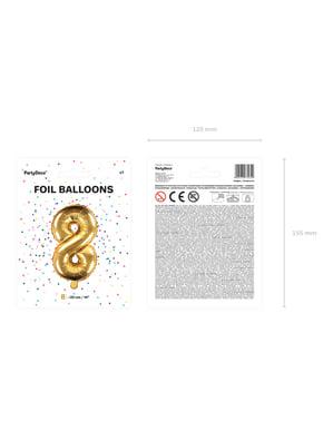 Złoty balon foliowy Cyfra