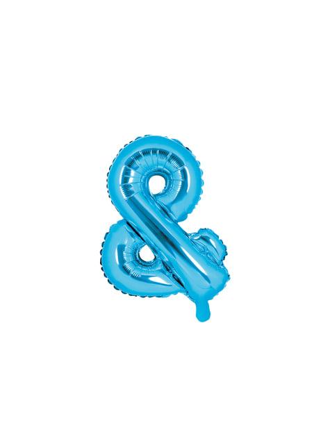 & Folie ballon in blauw (35cm)