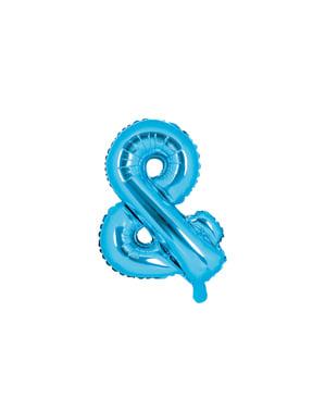 Niebieski balon foliowy & (35cm)