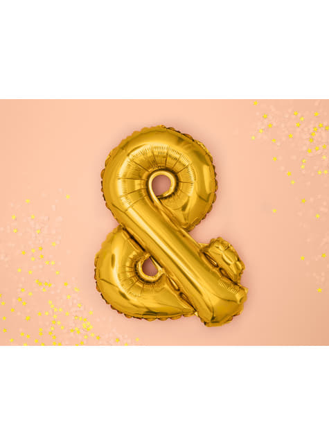 & Foil balloon in gold
