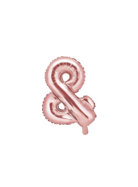 Globo foil & oro rosa