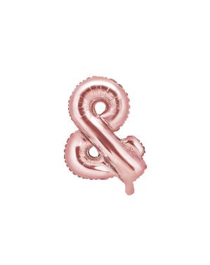 & Fóliový balónik z ružového zlata